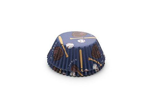 fox run 6991 baseball bake cups, estándar, 50 tazas