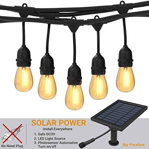 Foxlux Solar String Lights 48ft Led