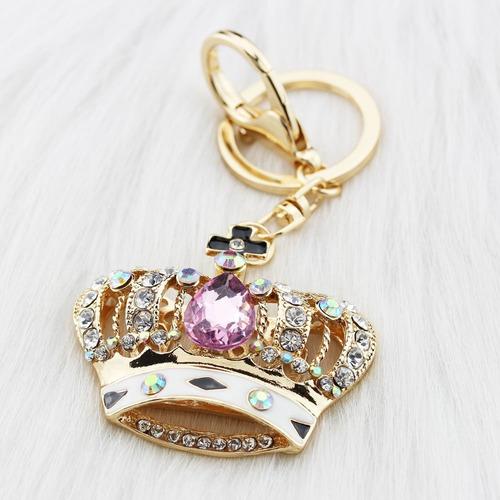 foy-mall corona rosada cristalina de rhinestone mujeres alea