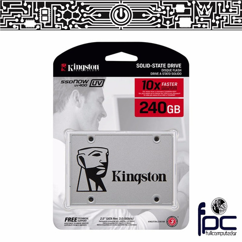 fpc - disco ssd 240gb kingston uv400. incluye iva