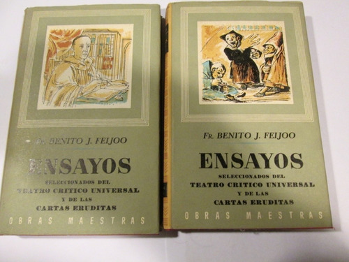 fr. benito j. feijoo   ensayos, iberia, dos tomos