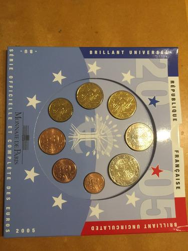 fra-s07 set 8 monedas francia 2005 euros unc-bu ayff