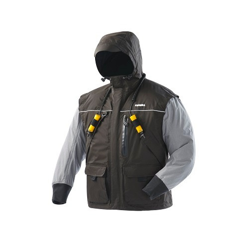 frabill chaqueta i2 negro / brezo gris x - grande