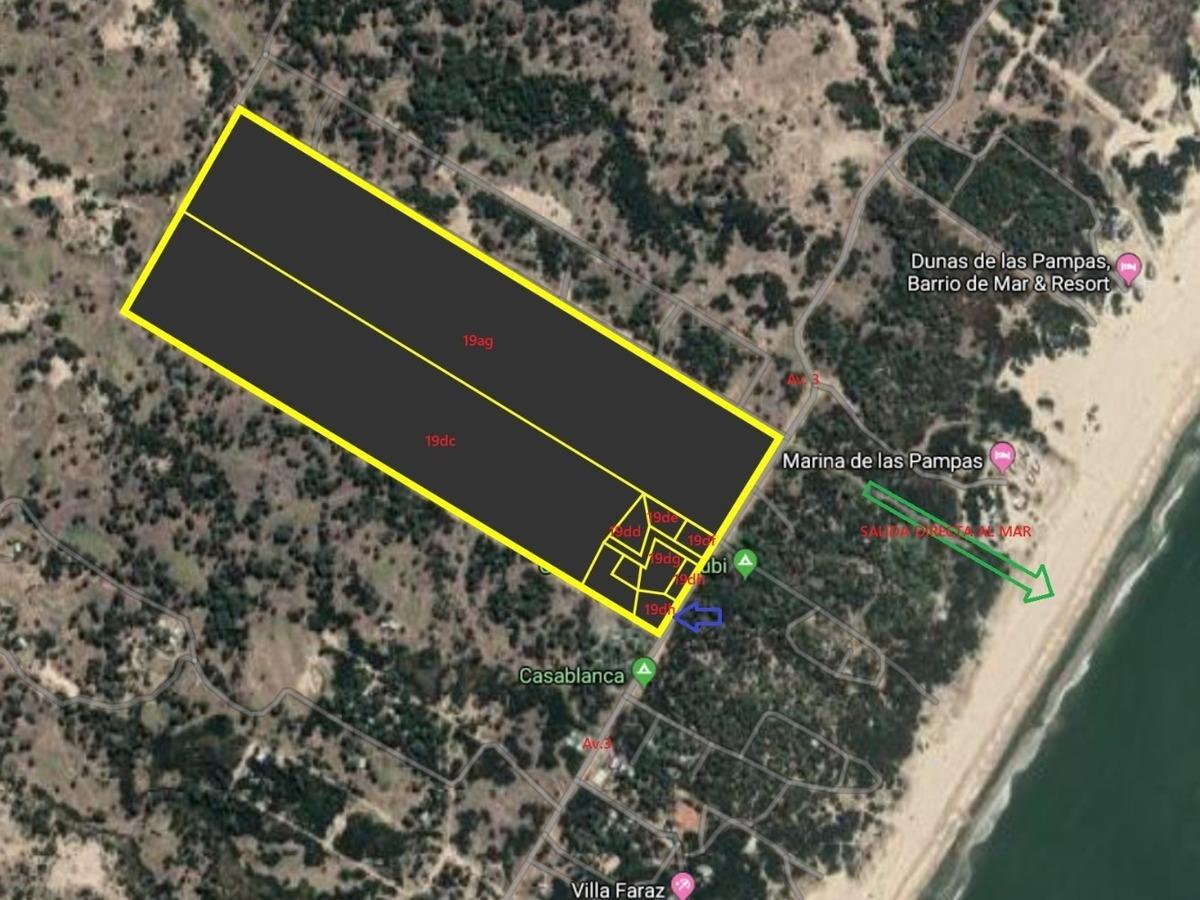 fraccion 19dn venta c/ 65m de frente s/ av. 3 colonia marina