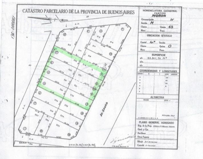 fracción 8400 m2 frente colectora acceso oeste salida a 2 calles - barrio parque leloir