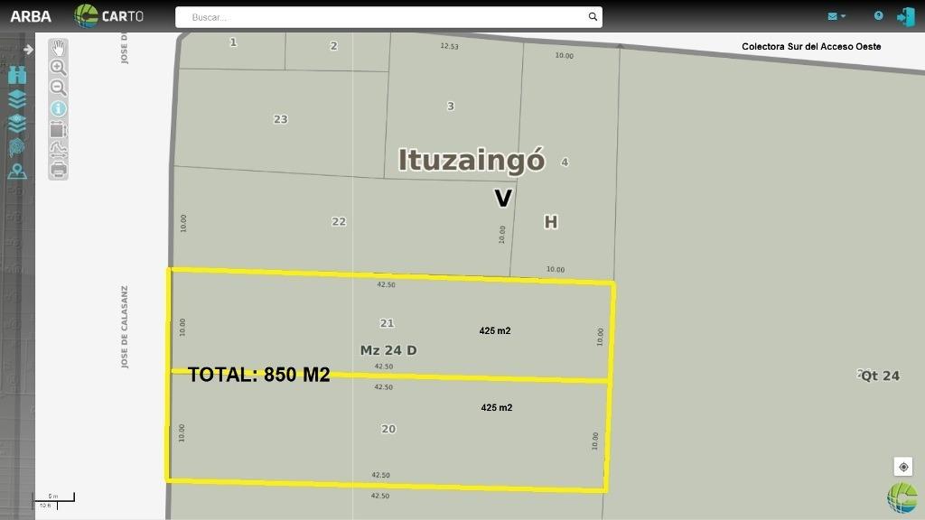 fraccion 850 m2 en alquiler en zona industrial de ituzaingo