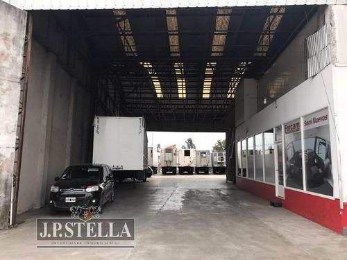 fraccion comercial - deposito y oficinas - 2530 m2 - frente a 3 avenidas - san justo