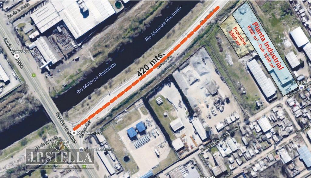 fraccion comercial / industrial - ribera sur a 400 mts camino de cintura - 9 de abril