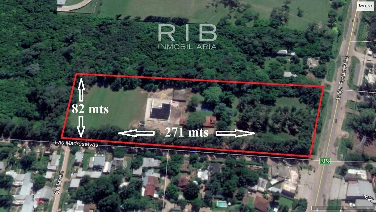 fracción de 21.700 m2 ruta 8 y las madreselvas - pilar