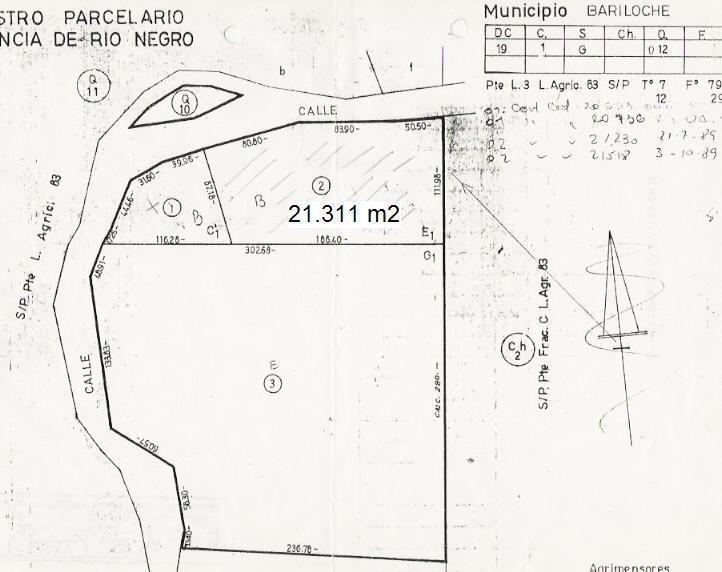 fraccion de terreno en venta sobre circuito chico- vista y bosque - bariloche