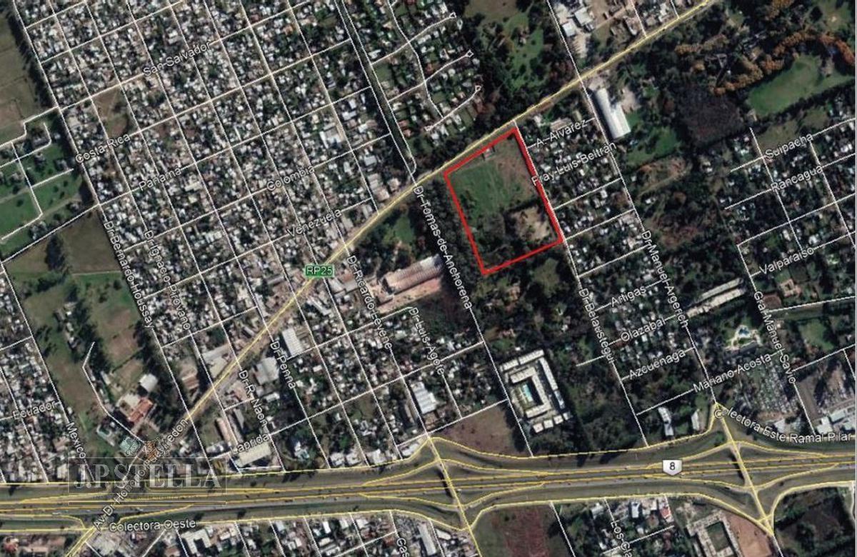 fracción industrial 50000 m² ruta 25 (av. h. pueyrredon 1400) - pilar