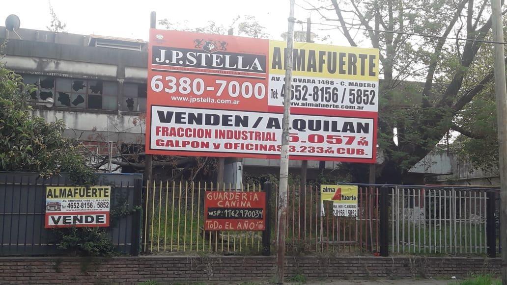 fracción industrial 5057 m² - 3233 m² cubiertos  - tablada
