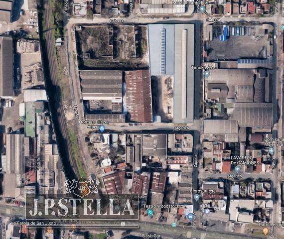 fracción industrial 5950 m² con mejoras - san justo