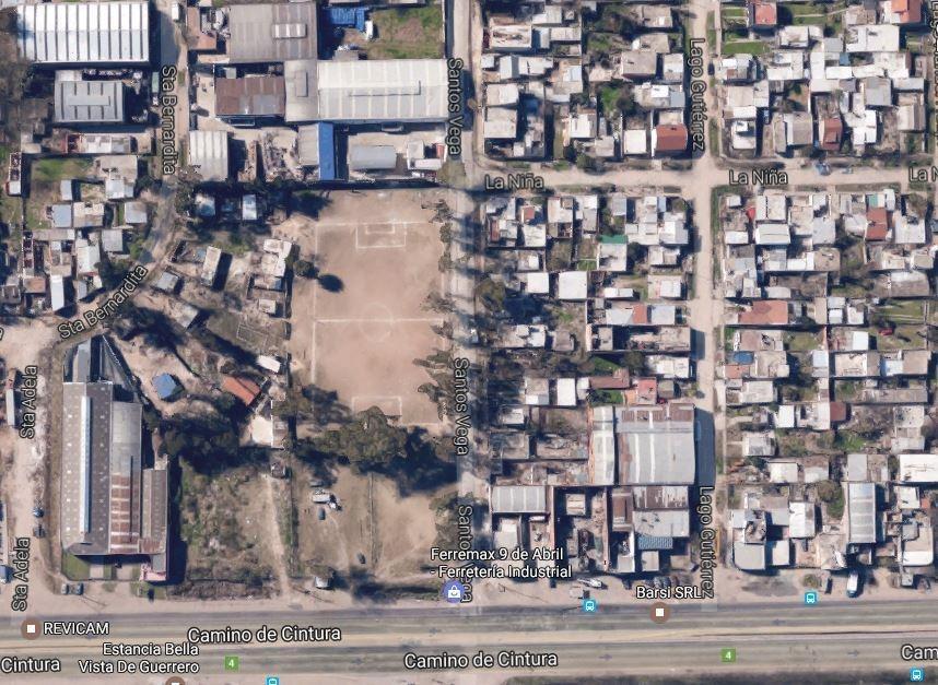 fracción industrial 6125 m² a 50 m. de camino de cintura - 100 metros de frente sobre pavimento  - 9 de abril