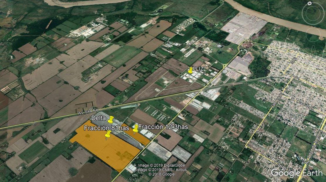 fracción industrial 81has - costa brava - terminal zárate