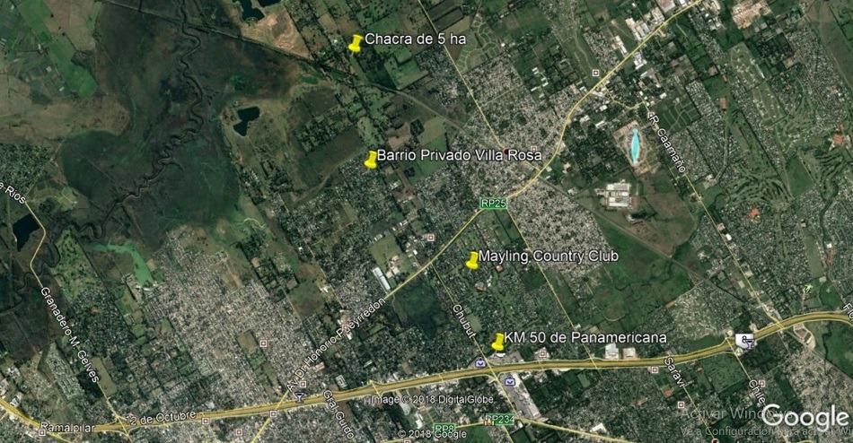 fracción residencial 5 ha - pilar - en venta