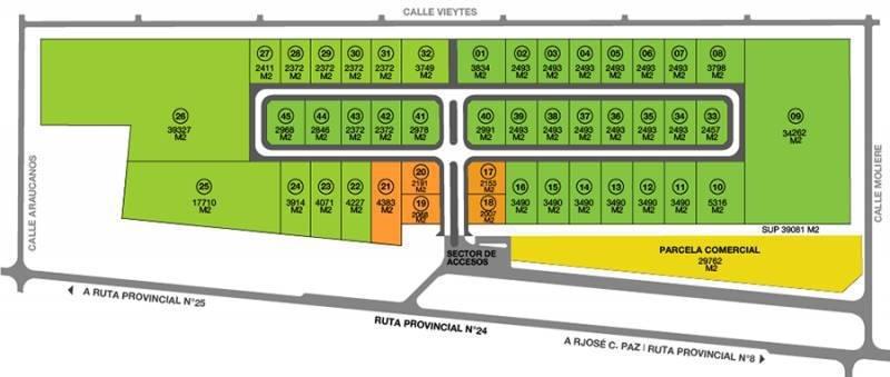 fracciones desde 2400 m2, ubicadas dentro del parque industrial moreno - pim 1
