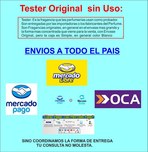 fragancia ch fem edt x 100 ml (tester original)