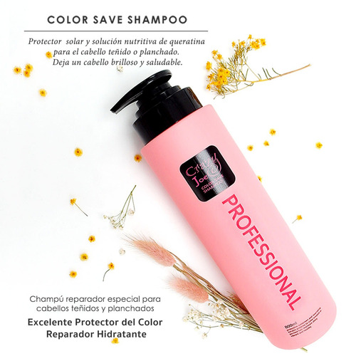 fragancia francesa champú shampoo cuidado del color 800 ml