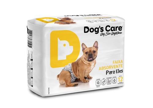 fralda dog's care cães machos 12 unidades - gg