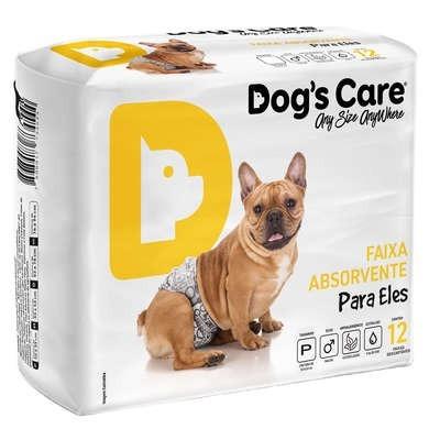 fralda dog's care cães machos 12 unidades - p