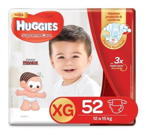 fralda huggies supreme care xg - 52 fraldas