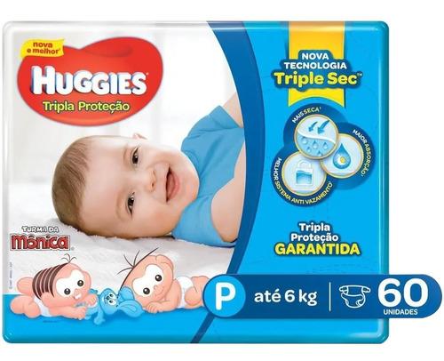 fralda huggies tripla proteção p 60 un