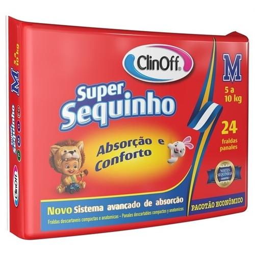 fralda infantil clin off c/24 super sequinho econômico md