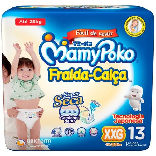 fralda mamypoko - fralda-calça tamanho p / m / g / xg / xxg