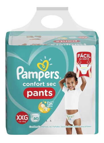 fralda pampers confort sec pants jumbo tamanho xxg 60 unidad