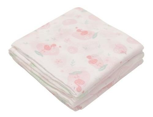 fralda super luxo com bainha tecido duplo papi estampada 5un