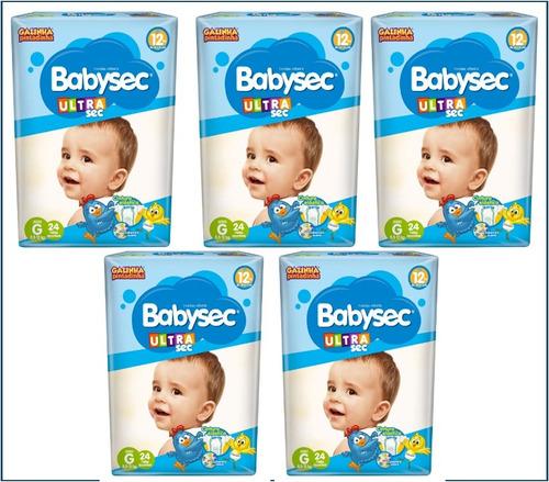 fraldas descartáveis baby sec ultra sec tamanho g 120 unid.