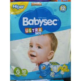 Fraldas Infantis Baby Sec Hiper G 80 Unidades/ Pacotao