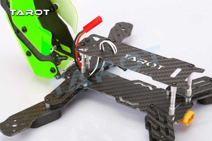 Frame Fpv Drone Racer 250 Fibra De Carbono Tarot Tl250h Verd