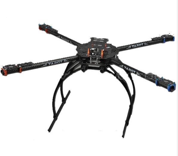 Frame Tarot Carbono Drone 650 Filmagem Iron Man Pwt Dobrável
