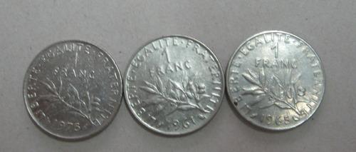 frança: 3 moedas  de 1 franc  !!!!