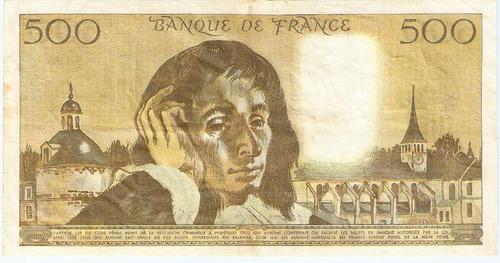 frança 500 francos 1981 p.156e sob cédula - tchequito