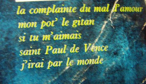 frances, mouloudji, chansons et complaintes, lp 10´, sp0