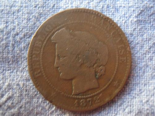 francia 10 centimes 1872