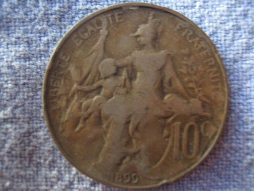francia 10 centimes 1899