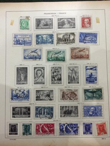 francia 20 estampillas antiguas