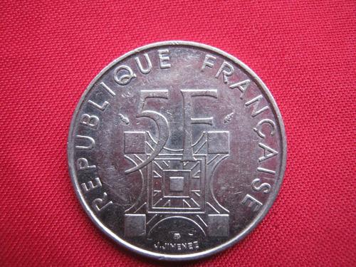 francia 5 francos 1989 torre eiffel