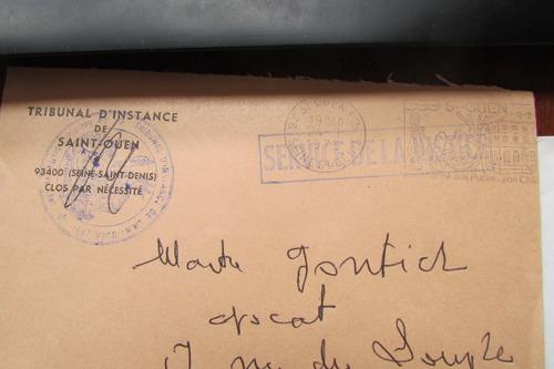 francia años 70/80 3 sobres departamento de justicia