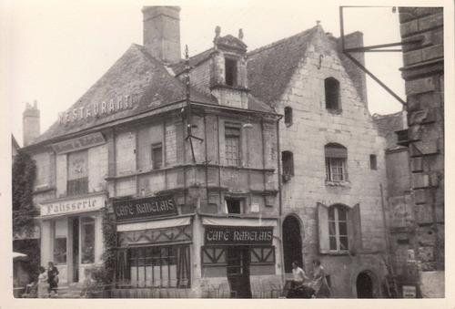 francia antigua fotografia casa de rabelais loira vintage