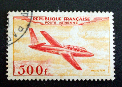francia - sello aéreo a32 500f alto usado l3415