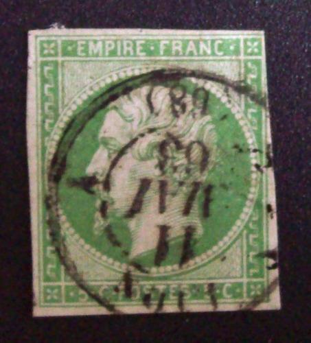 francia - sello napoleón yv. 12 muy bueno usado l1765