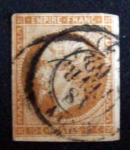 francia - sello yv. 13b tii excelente matasello l1770