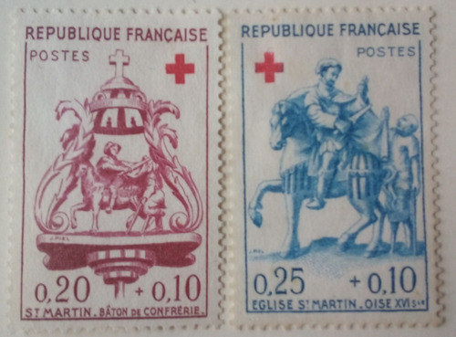 francia. serie: cruz roja. año: 1960.