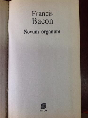 francis bacon. novum organum
