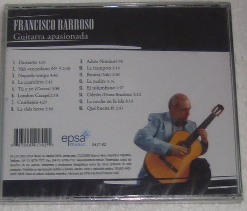 francisco barroso guitarra apasionada cd sellado
